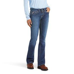 Ariat FR Ladies Blue Quartz Mid Rise Boot Cut Jean