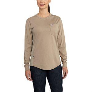 Carhartt FR Ladies 6.75 oz. Force Cotton T-Shirt w / Pocket