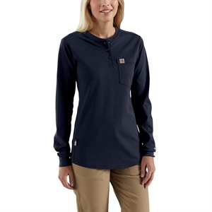 Carhartt FR Ladies Force Cotton Long-Sleeve Henley