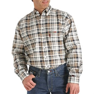 Cinch FR 7.5 oz Plaid Button Down
