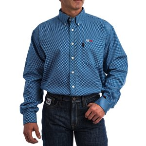 Cinch FR 6.5 oz 88 / 12 Royal Print Shirt