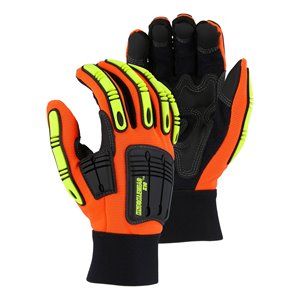 Majestic Synthetic Leather Hiviz Glove