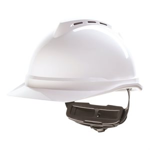 MSA V-Gard 500 Vented Cap Style Hard Hat w / Fas-Trac Suspension