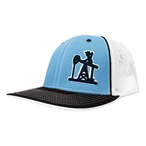 Oilfield Caps Blue / White Outline PJ