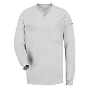 Bulwark FR 7.25 oz Cotton L / S Henley
