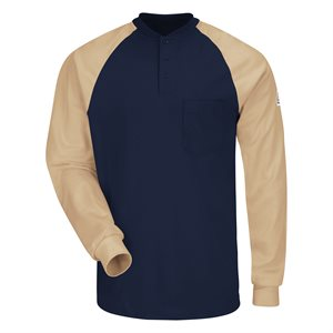 Bulwark FR 7 oz Cotton L / S Color Block Henley