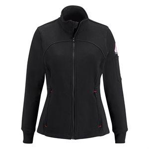Bulwark FR Ladies 12.5 oz Cotton Fleece Zip-Up Jacket
