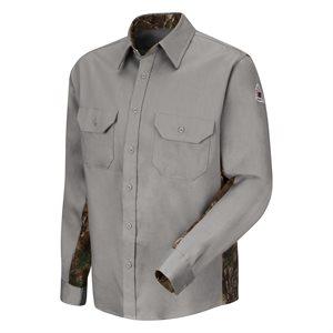 Bulwark FR 6 oz 88 / 12 L / S Camo Uniform Shirt
