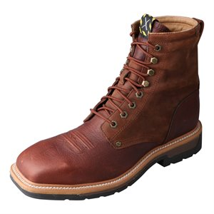 """Twisted X Cowboy Lacer WP ST 8"""" Lace-Up Boot"""